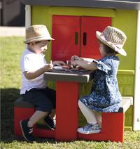 Smoby table pique-nique pour maisonnettes Neo Jura Lodge et My Neo House-Image 3