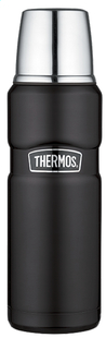 Thermos inox isoleerkan King 0,47 l zwart