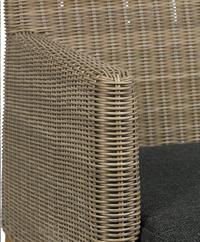 Fauteuil de jardin Malaga brun/teck-Détail de l'article