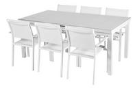Chaise de jardin Victoria blanc-Image 1