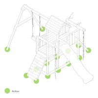 Fatmoose Schommel RockyRanch Roll XXL met groene glijbaan-product 3d drawing