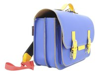 # Own Stuff cartable Cobalt/Yellow 38 cm-Côté gauche