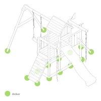 Fatmoose schommel BoldBaron Boost XXL met groene glijbaan-product 3d drawing