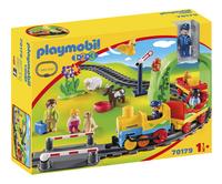PLAYMOBIL 1.2.3 70179 Train avec passagers et circuit-Côté gauche