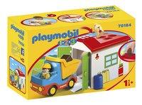 PLAYMOBIL 1.2.3 70184 Ouvrier avec camion et garage-Côté gauche