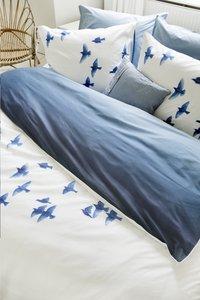 Walra Housse de couette Early Birds bleu coton 200 x 220 cm-Image 1