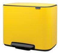 Brabantia Pedaalemmer Bo daisy yellow 3 x 11 l-Rechterzijde