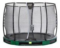 EXIT trampoline enterré avec filet de sécurité Elegant Ground Premium Deluxe Ø 3,05 m vert-Avant