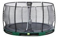 EXIT trampoline enterré avec filet de sécurité Elegant Ground Premium Deluxe Ø 4,27 m vert-Avant