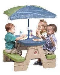 Step 2 table de pique-nique pour enfants Sit and Play avec parasol-Image 1