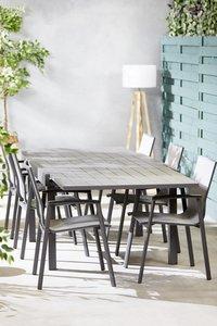 Ensemble de jardin Modulo/Bondi anthracite - 4 chaises-Image 2