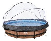EXIT piscine Wood avec coupole Ø 3,60 m-Avant