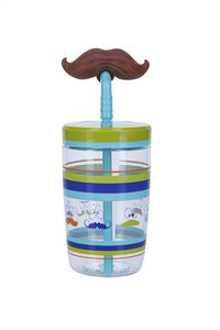Contigo gobelet Bueno Funny Straw 500 ml Electric Blue Mustache