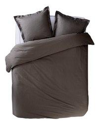 Sleepnight Dekbedovertrek Satinada vertical katoensatijn antraciet 200 x 220 cm-Vooraanzicht