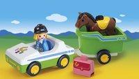 PLAYMOBIL 1.2.3 70181 Wagen met paardentrailer-Afbeelding 1