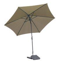 Aluminium parasol diameter 3,5 m taupe
