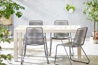 Ensemble de jardin Ulm 160 cm / Ibiza gris - 4 chaises-Image 1