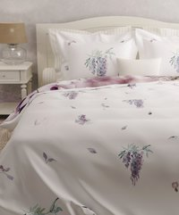 Heckett & Lane Housse de couette Carmen wisteria pink satin de coton-Image 2