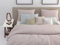 Zo! Home Housse de couette Lino coton shell nude 200 x 220 cm-Image 2