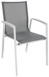 Chaise de jardin Bondi gris clair/blanc
