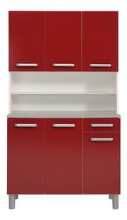 Parisot Keukenkast Glossy rood-Vooraanzicht