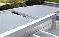 Jati & Kebon verlengbare tuintafel Livorno lichtgrijs/wit 220 x 106 cm-Afbeelding 4
