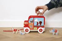 Scratch Europe houten trekspeeltje Sorteerwagen Circus-Afbeelding 1