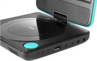 Lenco lecteur DVD portable DVP-754 7'' avec casque audio bleu-Détail de l'article