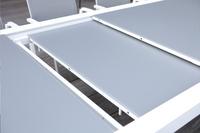 Jati & Kebon verlengbare tuintafel Livorno lichtgrijs/wit 220 x 106 cm-Artikeldetail