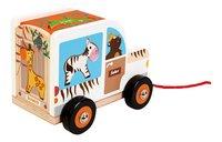 Scratch Europe houten trekspeeltje Sorteerwagen Safari-Linkerzijde