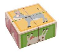 Scratch Europe houten blokkenpuzzel Boerderij-Linkerzijde
