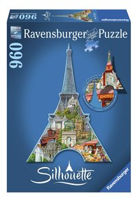 Ravensburger puzzel Silhouet Eiffeltoren Parijs