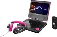 Lenco draagbare DVD-speler DVP-754 7'' met hoofdtelefoon roze-Artikeldetail