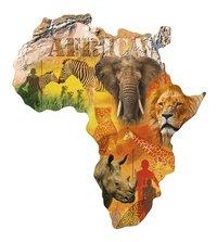 Ravensburger puzzel Silhouette Afrikaans continent-Vooraanzicht