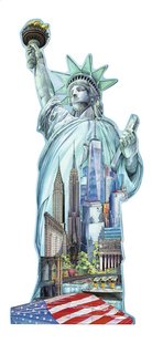 Ravensburger puzzel Silhouet Vrijheidsbeeld New York-Vooraanzicht