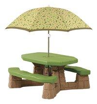 Step2 kinderpicknicktafel Naturally Playful met parasol-Vooraanzicht