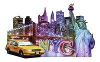 Ravensburger puzzel Silhouet Skyline New York-Vooraanzicht