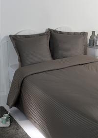 Sleepnight Dekbedovertrek Satinada vertical katoensatijn antraciet 200 x 220 cm-commercieel beeld