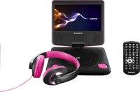 Lenco lecteur DVD portable DVP-754 7'' avec casque audio rose