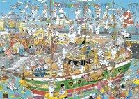 Jumbo Puzzel Jan Van Haasteren Tall ship chaos-Vooraanzicht