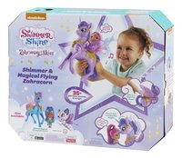 Fisher-Price Shimmer & Shine Magical Flying Zahracorn + Shimmer-Achteraanzicht