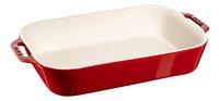 Staub Plat à gratin Ceramic rouge cerise 24 x 34 cm