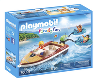 PLAYMOBIL Family Fun 70091 Motorboot met funtubes-Linkerzijde