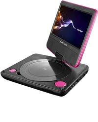 Lenco draagbare DVD-speler DVP-754 7'' met hoofdtelefoon roze-Linkerzijde