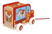 Scratch Europe houten trekspeeltje Sorteerwagen Circus-Rechterzijde
