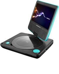 Lenco lecteur DVD portable DVP-754 7'' avec casque audio bleu-Côté gauche