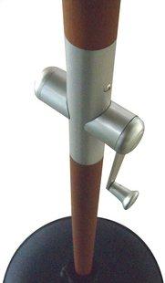 Parasol de luxe FSC avec manivelle bois Diamètre 3 m sable-Image 1