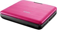 Lenco lecteur DVD portable DVP-754 7'' avec casque audio rose-Vue du haut