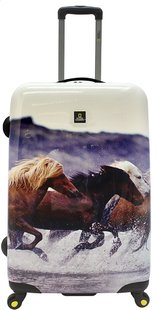 National Geographic Harde reistrolley Horses Spinner 79 cm