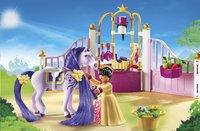 Playmobil Princess 6855 Écurie avec cheval à coiffer et princesse-Image 1